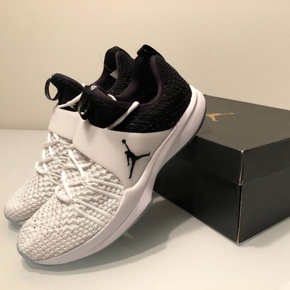 8b2f7efe02b3 New Nike Jordan Trainer 2 Flyknit Men White Black